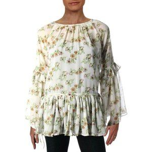 Walter Baker NWT PAM Gathered Floral Peplum Top